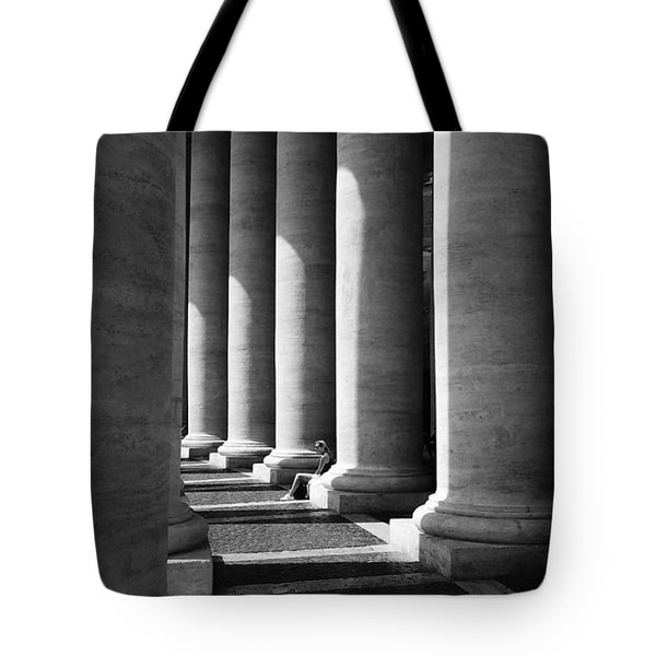 Tote Bag featuring the digital art Waiting At St Peters by Julian Perry