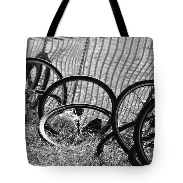 Waiting For A Ride Tote Bag by Lauri Novak