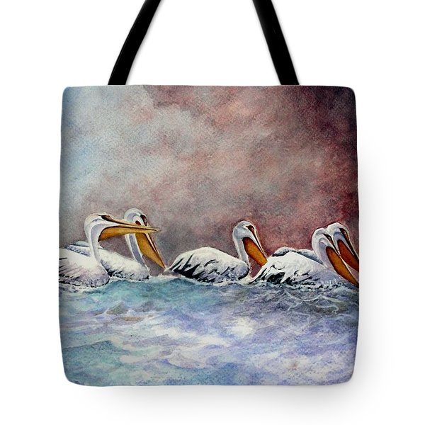 Waiting Out The Storm Tote Bag by Jimmy Smith
