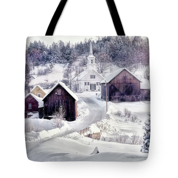 Waits River, Vt Tote Bag by George Robinson