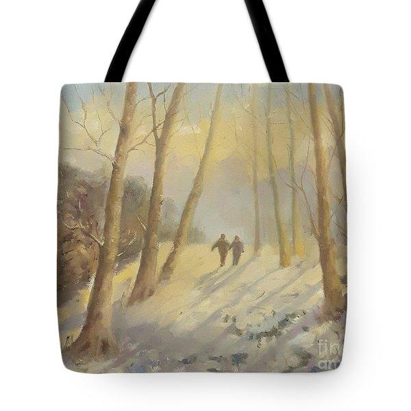Walking In Sunshine Tote Bag