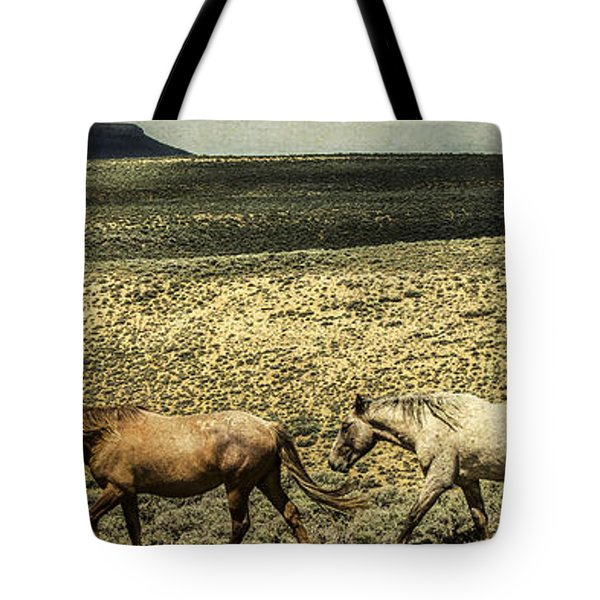 Walking The Line At Pilot Butte Tote Bag