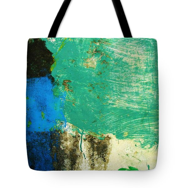 Tote Bag featuring the photograph Wall Abstract 70 by Maria Huntley