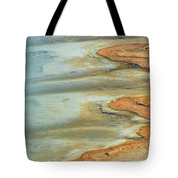 Wall Pool In Yellowstone National Park Tote Bag
