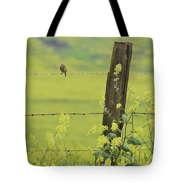 Warbler In The Meadow Tote Bag