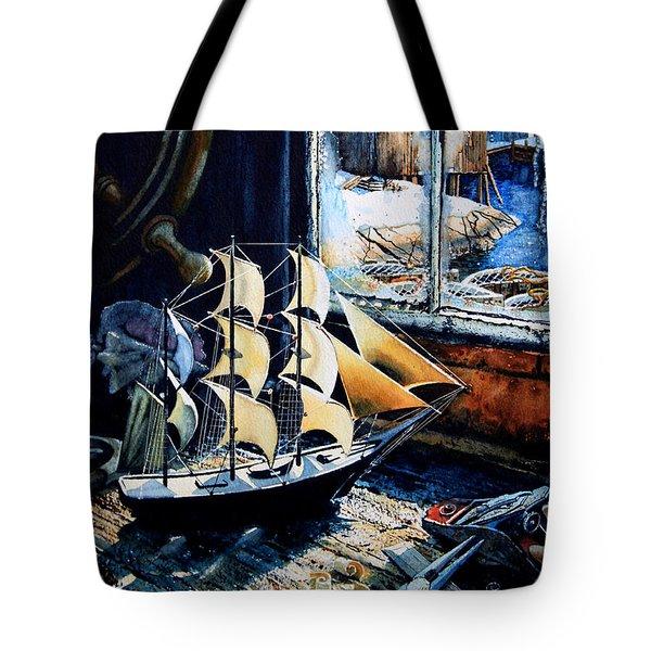 Warm Winter Pastime Tote Bag by Hanne Lore Koehler