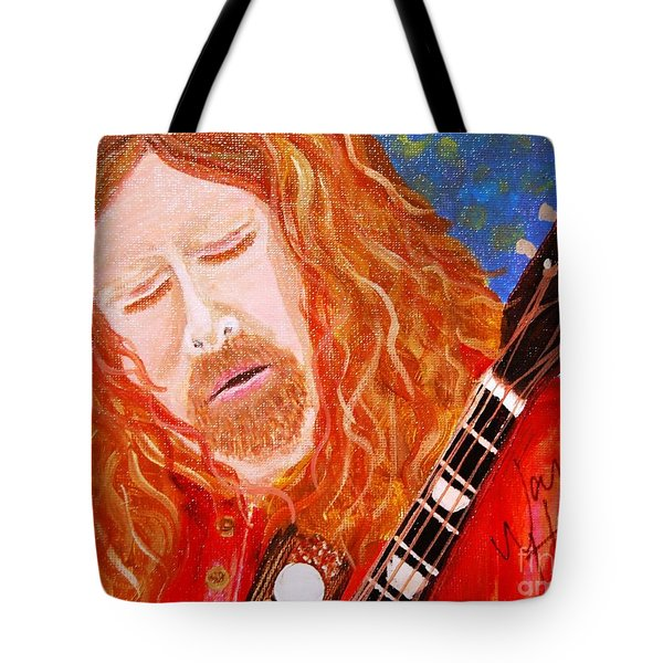 Warren Haynes Tote Bag by Angela Murray