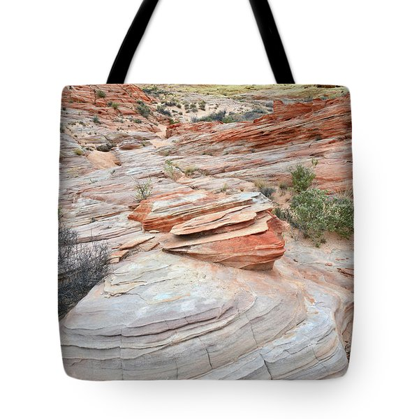 Tote Bag featuring the photograph Wash 3 In Valley Of Fire by Ray Mathis