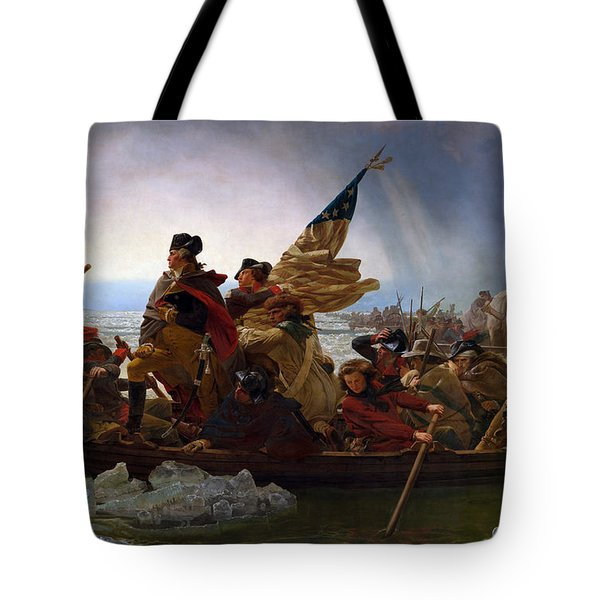 Tote Bag featuring the digital art Washington Crossing The Delaware by Emanuel Leutze