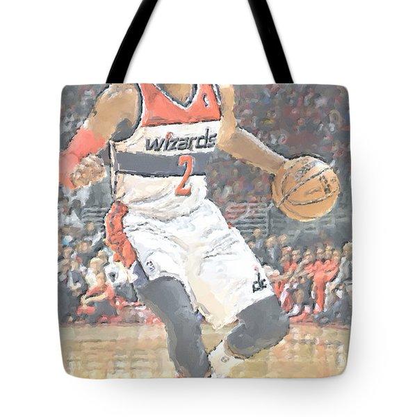 Washington Wizards John Wall Tote Bag by Joe Hamilton
