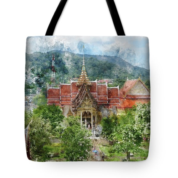Wat Chalong In Phuket Thailand Tote Bag