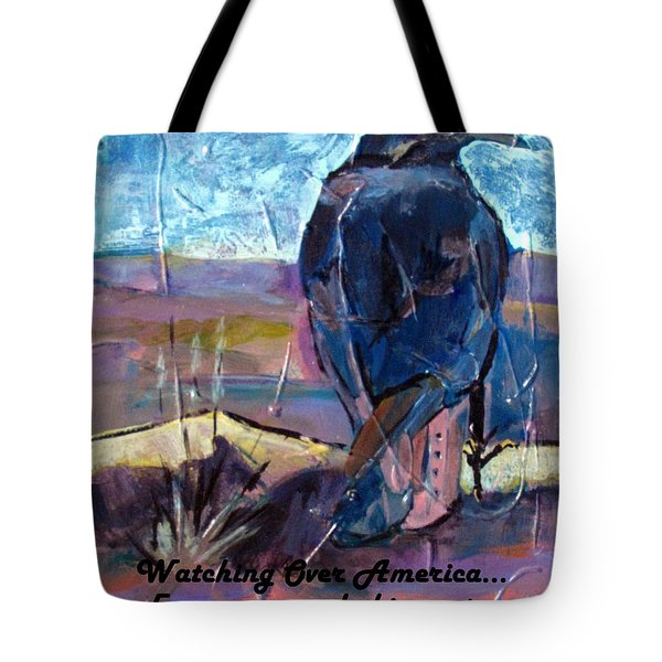 Watchful American Icon Tote Bag by Betty Pieper