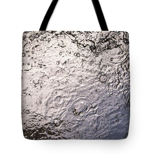 Water Abstraction - Liquid Metal Tote Bag by Alex Potemkin