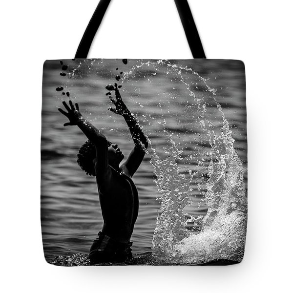Water And Stones 3 Tote Bag
