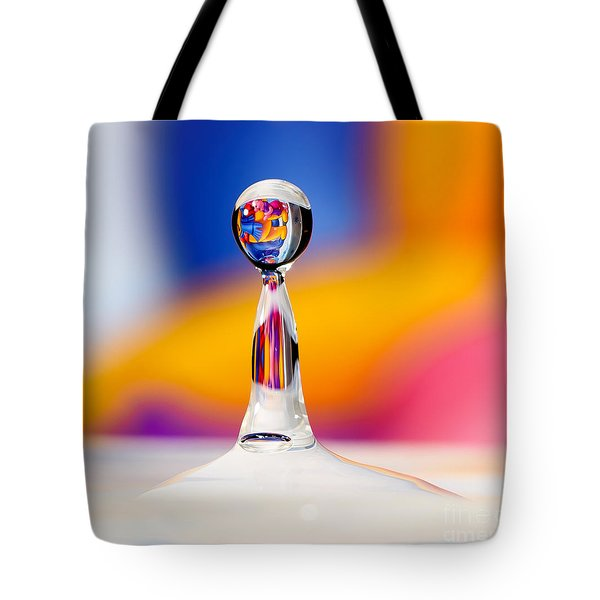 Water Drop Tote Bag by Colin Rayner