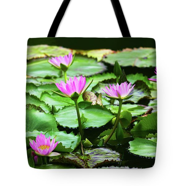Tote Bag featuring the photograph Water Lilies by Anthony Jones