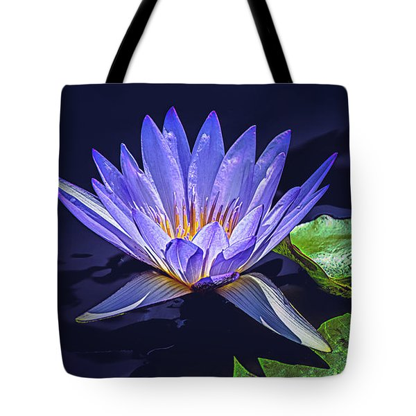 Tote Bag featuring the photograph Water Lily In Lavender by Julie Palencia