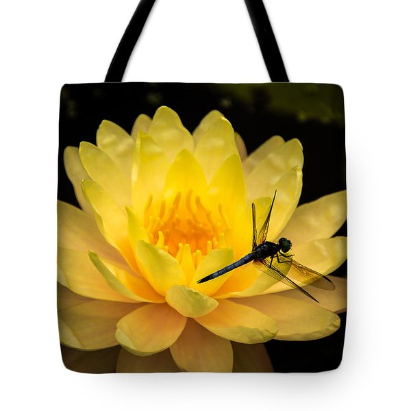 Tote Bag featuring the photograph Water Lily by Jay Stockhaus