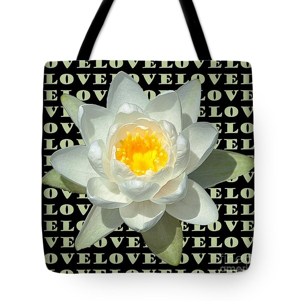 Water Lily Love Tote Bag
