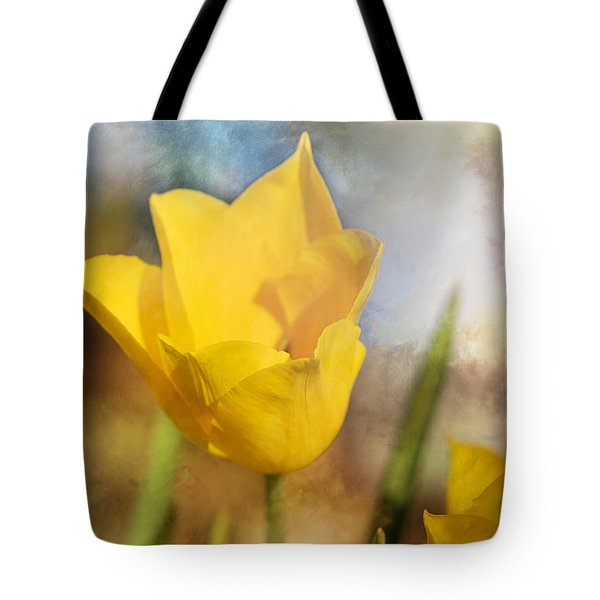 Water Lily Tulip Flower Tote Bag
