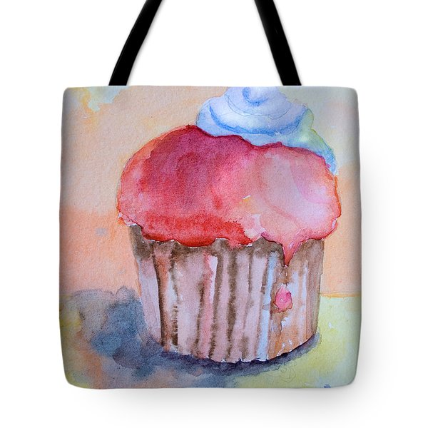 Watercolor Illustration Of Cake  Tote Bag
