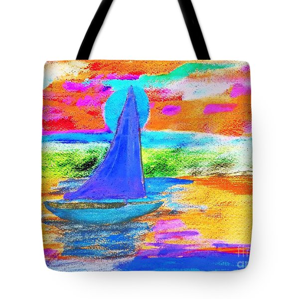 Watercolor Sailing Tote Bag