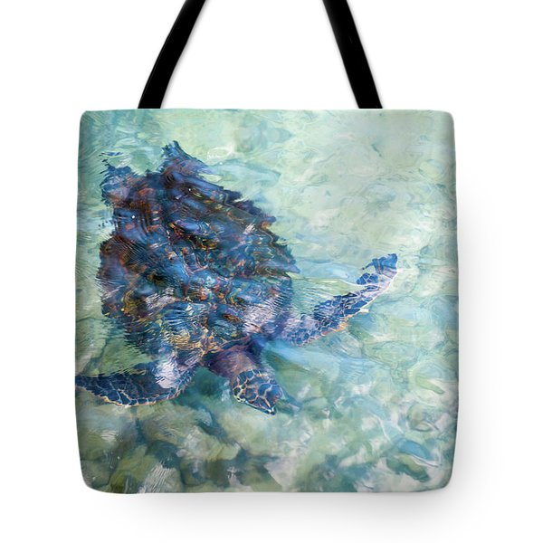 Watercolor Turtle Tote Bag