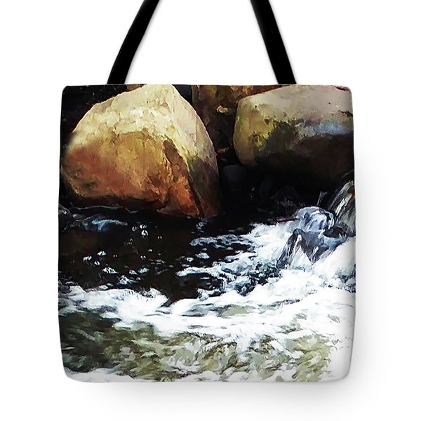 Waterfall Abstract Tote Bag