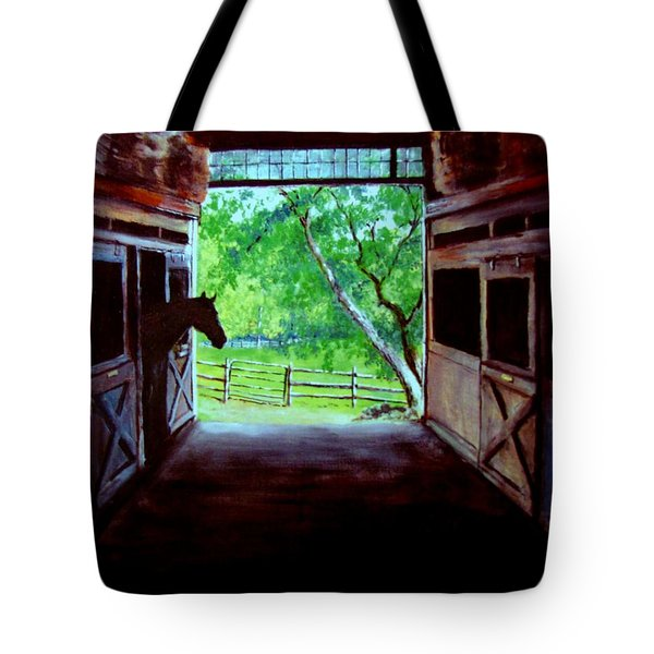 Water's Edge Farm Tote Bag by Jack Skinner