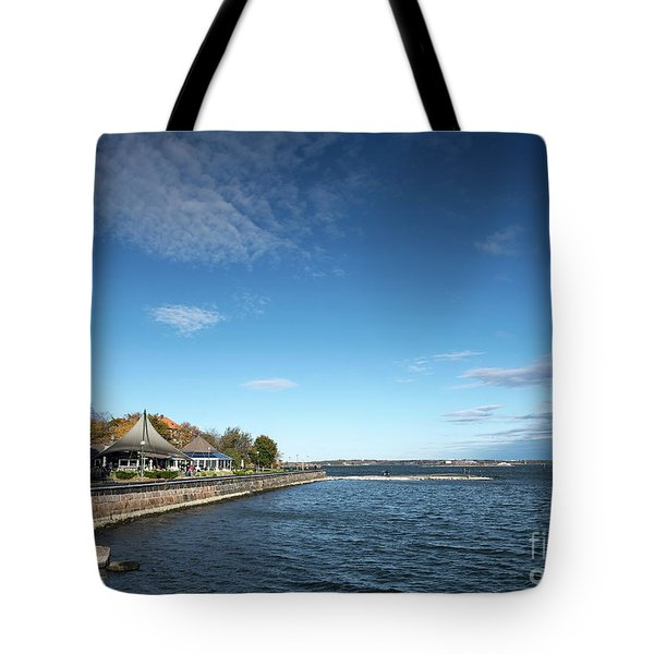 Waterside Restaurant Cafe In Famous Kaivopuisto Park Helsinki Fi Tote Bag