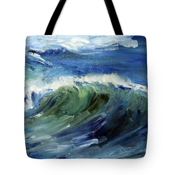 Wave Action Tote Bag by Michael Helfen