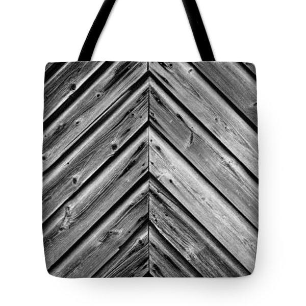 Weathered Wood Tote Bag by Larry Carr