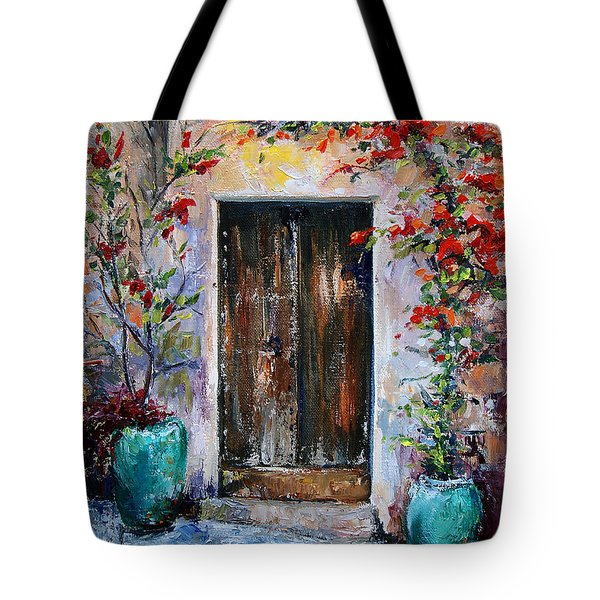 Tote Bag featuring the painting Welcome by Jennifer Beaudet