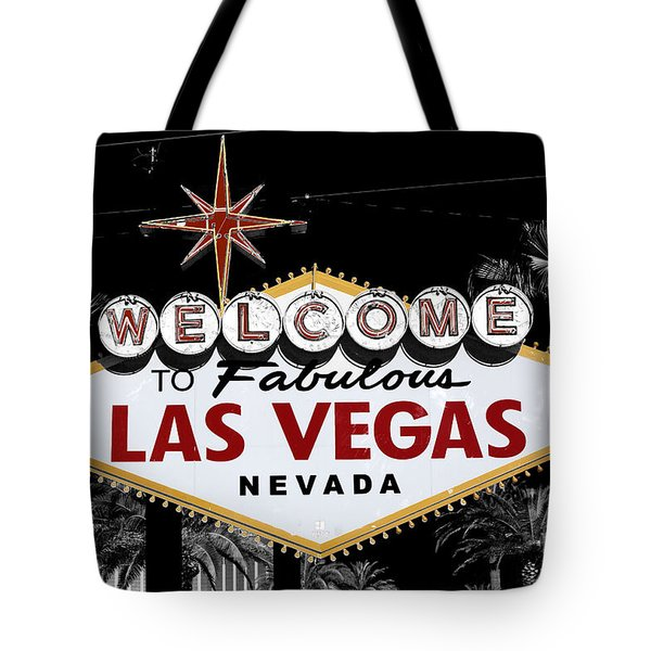 Welcome To Las Vegas Fusion Tote Bag