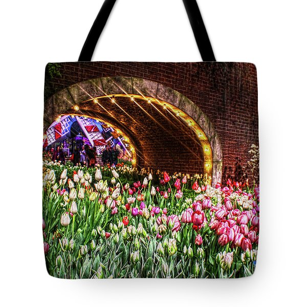 Welcoming Tulips Tote Bag