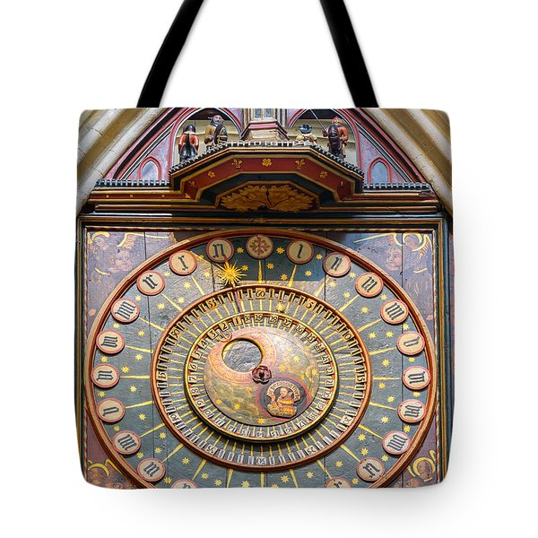 Wells Cathedral Clock Tote Bag by Colin Rayner