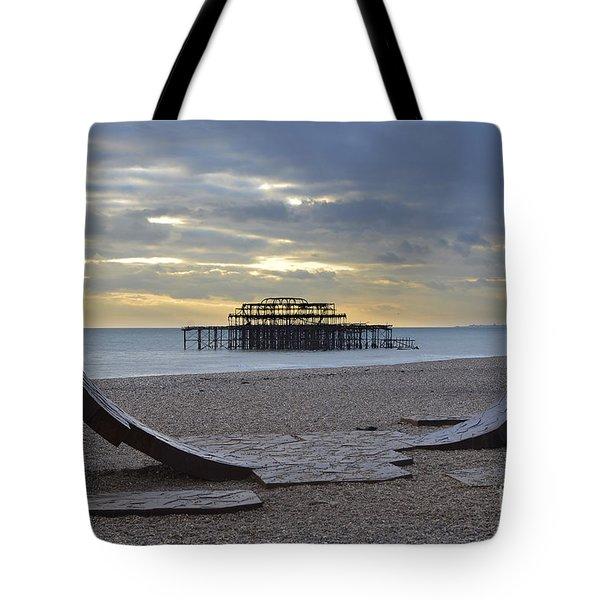 West Pier Brighton Tote Bag