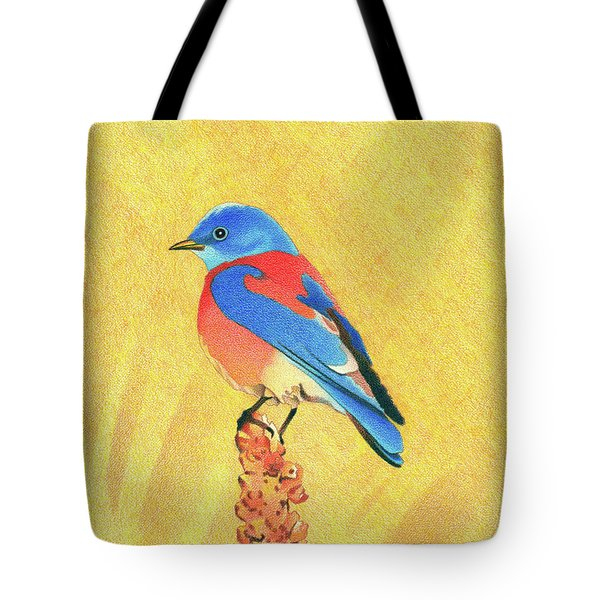 Western Bluebird Tote Bag