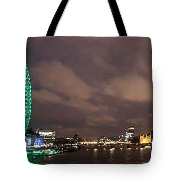 Westminster And The London Eye Tote Bag by Dawn OConnor