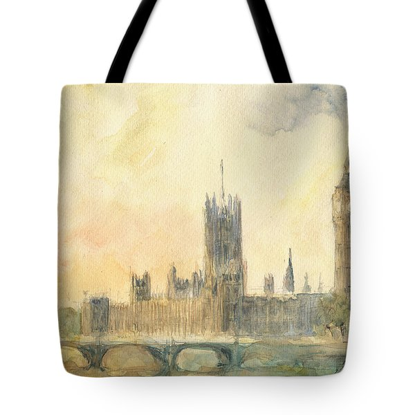 Westminster Palace And Big Ben London Tote Bag