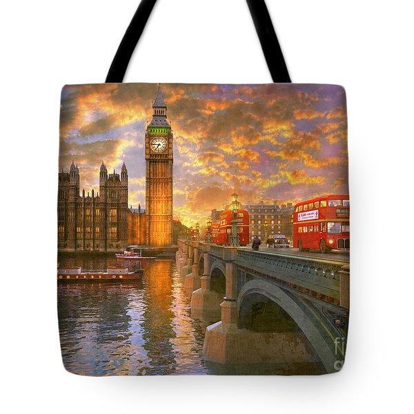 Westminster Sunset Tote Bag