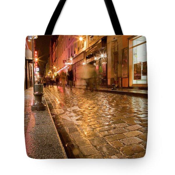 Wet Paris Street Tote Bag