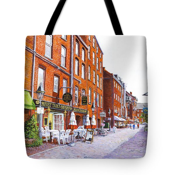 Wharf Street Portland Maine Tote Bag by Thomas Michael Meddaugh