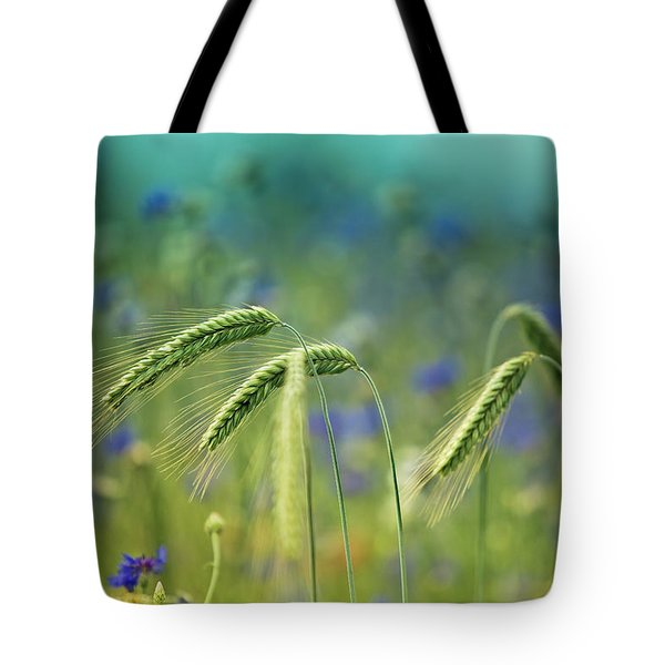 Wheat And Corn Flowers Tote Bag