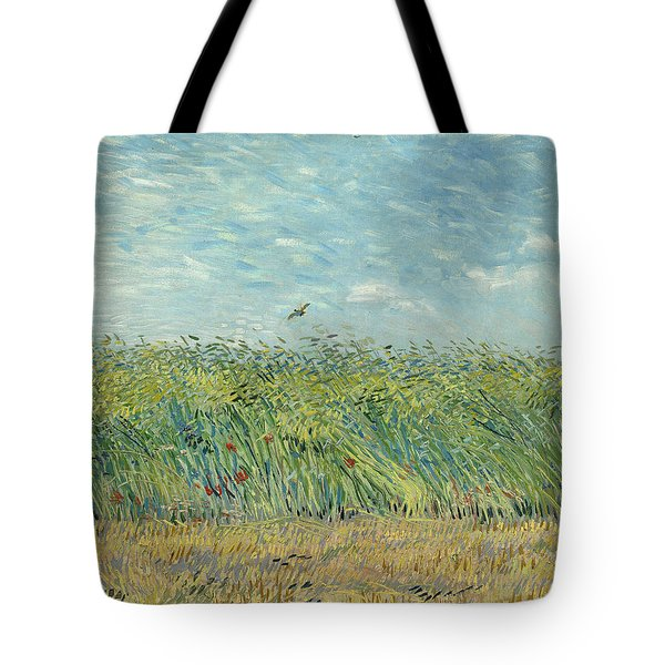 Wheatfield With Partridge Tote Bag