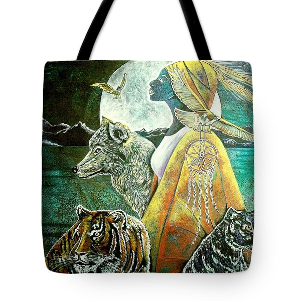 Where The Two Worlds Meet Tote Bag