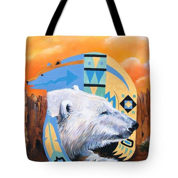 White Bear Goes Southwest Tote Bag
