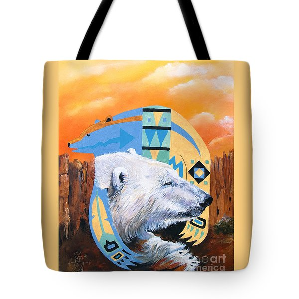 White Bear Goes Southwest Tote Bag