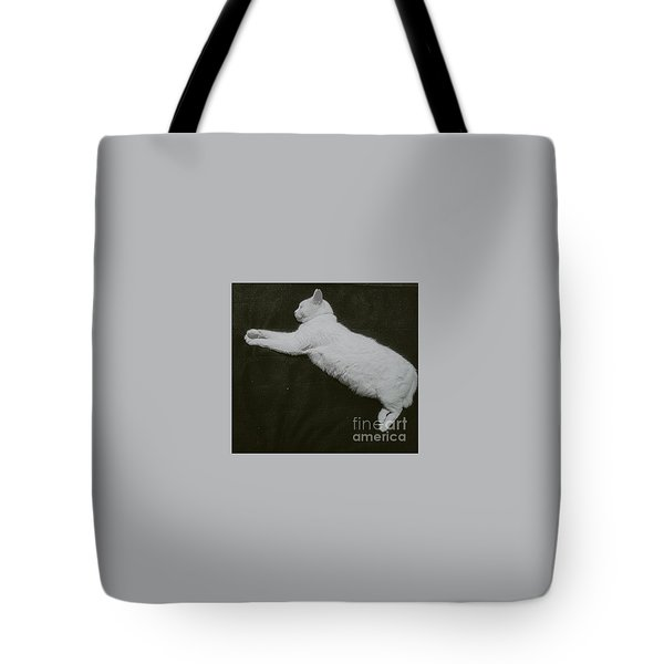 White Cat Logo Tote Bag by Sobajan Tellfortunes