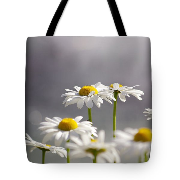 White Daisies Tote Bag by Carlos Caetano